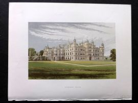 Morris Seats 1860's Antique Print. Burghley House